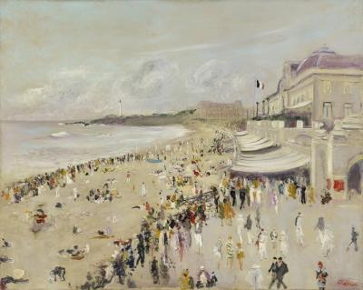 Adrion, Lucien - La plage a Biarritz