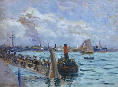 Luce, Maximilien - Le port de Rotterdam
