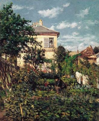 Luce, Maximilien - Dans le jardin potager à Friant
