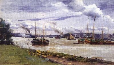 Bateau dans le port de Rotterdam