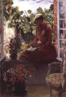 Portrait d'Anna Goenette au béret