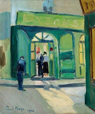 Bij het café in Parijs