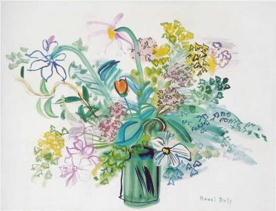 Dufy, Raoul - Bouquet à la fleur jaune
