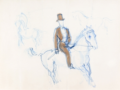 Dufy, Raoul - Monsieur Loyal à cheval