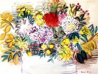 Dufy, Raoul - La dahlia rouge