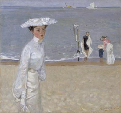Élégante sur la plage