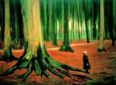 Vincent van Gogh - Meisje in het Haagse Bos