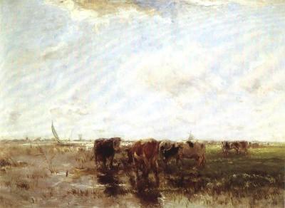 Willem Maris - Koeien aan de waterkant