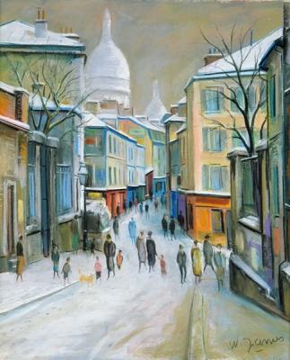 James, Willy - Place Clément et le Sacré Coeur sous la neige