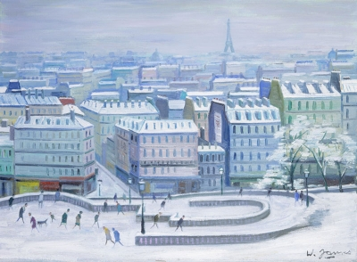 James, Willy - Vue de Paris sous de la neige, du Sacré Coeur