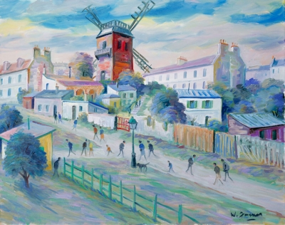 James, Willy - Montmartre, le Moulin de la Galette