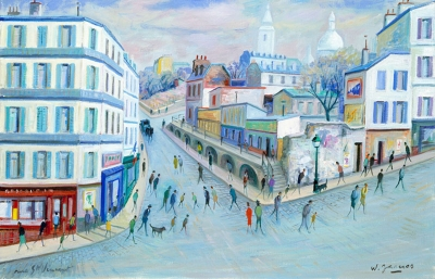James, Willy - Montmartre, rue Saint-Vincent