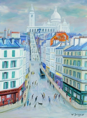 James, Willy - Montmartre, Rue Malher