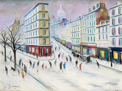 James, Willy - Boulevard de la Chapelle sous la neige