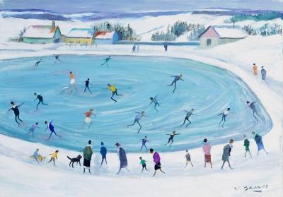 James, Willy - L'étang gelé aux patineurs