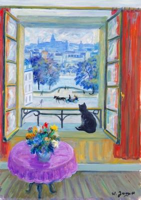 James, Willy - Le chat nouir à la fenêtre