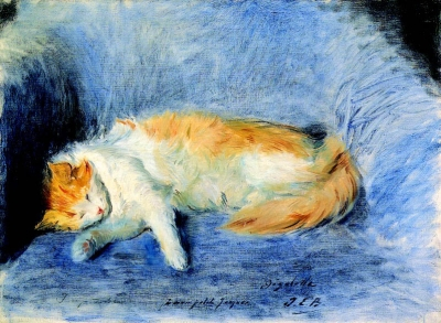 Blanche, Jacques Emile - Chat Endormi