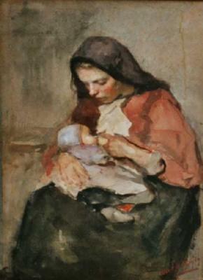 Neuhuijs, Albert - Moeder en kind