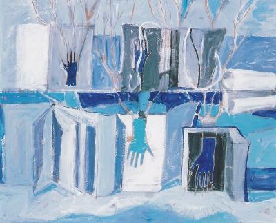 Roitman, Anahi - Paisaje literario sobre fondo azul