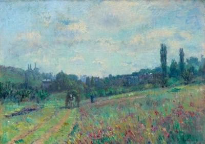 Lebourg, Albert - Le printemps à Vétheuil, le vallon fleuri