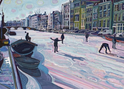 Skating in the Canals, Amsterdam