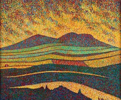 View of the Eildon Hills, Scottish Borders