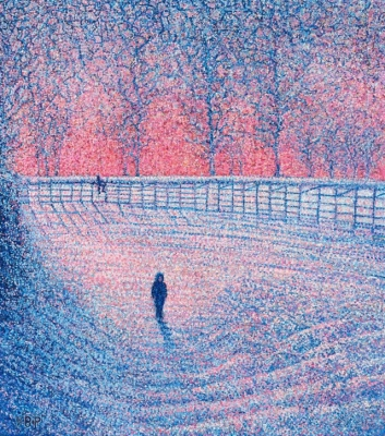 Snowscene with two boys, Scottish Borders