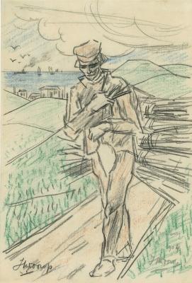 Toorop, Jan - Zeeuwse boer met takkenbos