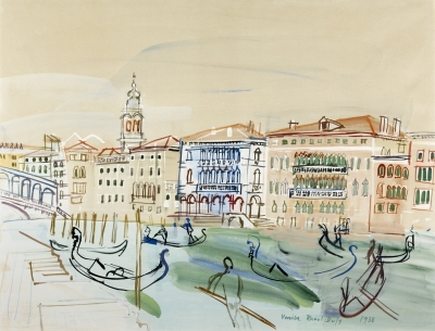 Dufy, Raoul - Venise, le Grand Canal et le Pont du Rialto