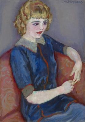 Sluijters, Jan - Meisje op rode bank