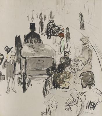 Dongen, Kees van - Straattafereel Parijs ca 1906