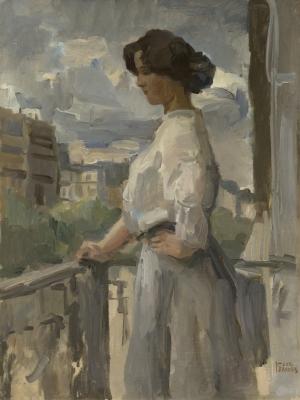 Israels, Isaac - Vrouw op een balkon in Parijs