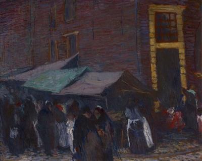 Markt in de Joden Houttuinen te Amsterdam