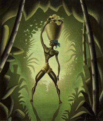 Sonnega, Auke - Gestileerde mansfiguur in een bos