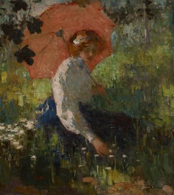 Graafland, Robert - Jonge vrouw met parasol