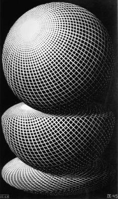 Escher, Maurits Cornelis - Drie bollen