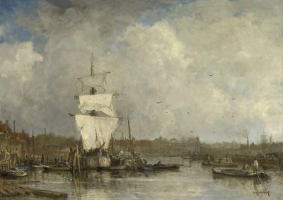 Mastenbroek, van Johan Hendrik - Haven te Rotterdam, Boerengat