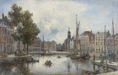 Johan Barthold Jongkind - De haven van Rotterdam, 1869