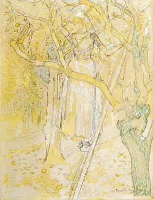 Jan Toorop - Appels plukken in de boomgaard, 1906
