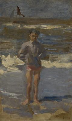 Isaac Israels - Pootje baden