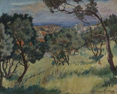 Eugen Spiro - Landschap Sicilië, 1923