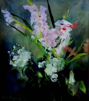 Bloemstilleven met gladiolen