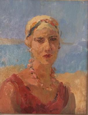 Italiaanse dame op het strand van Viareggio - Isaac Israels