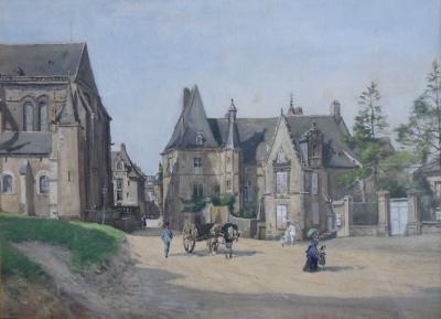 Le Mans, dorpsplein in de zomer - Ludovic Piette