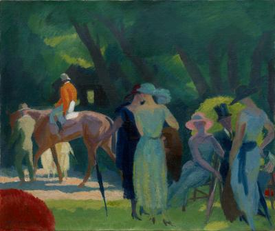 Les élégantes au paddock - Maurice Taquoy