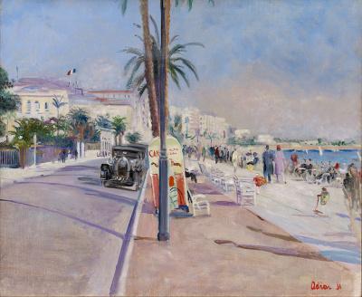 La Croisette à Cannes, 1931 - Lucien Adrion