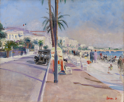 Bugatti op de Boulevard de la Croisette in Cannes, 1931 - Lucien Adrion