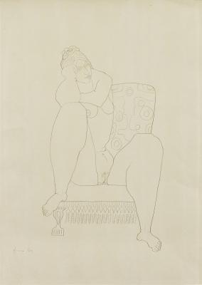 Nol Kroes - Zittend naakt, 1964