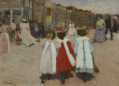 George Hendrik Breitner - Drie schoolmeisjes, ca. 1885