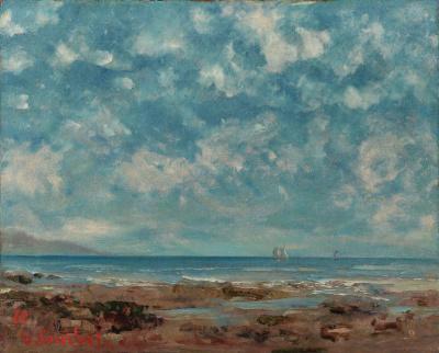 Gustave Courbet - Vue du Lac Léman, 1877